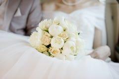 Het boeket van huwelijksbloemen Royalty-vrije Stock Foto's