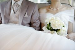 Het boeket van huwelijksbloemen Stock Foto's