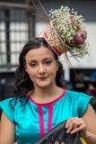 Het boeket van kleurrijke hydrangea hortensiabloemen, sluit omhoog royalty-vrije stock afbeelding