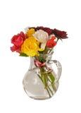 Het boeket van rozenkosten in een kruik Royalty-vrije Stock Fotografie