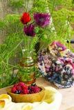 het boeket van tuin bloeit poppie Royalty-vrije Stock Afbeeldingen