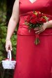Het boeketbloemstuk van het huwelijk Stock Foto's