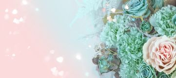 Het boeketclose-up van bloemen stock foto's