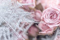 Het boeketclose-up van bloemen stock afbeelding