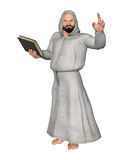 Het Boekillustratie van Religious Leader Holding van het priestergeestelijke Royalty-vrije Stock Foto