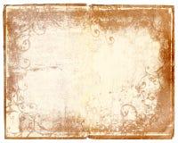 Het boekpagina van Grunge met wervelingsontwerpen Stock Fotografie
