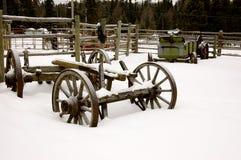 Het Boerenerf van de winter Stock Foto