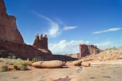 In het Bogen Nationale park, Utah, de V.S. Stock Foto