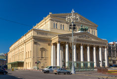 Het Bolshoi-Theater in Moskou Royalty-vrije Stock Foto