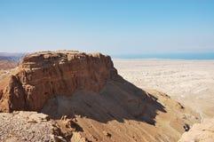 Het bolwerk van Masada, Israël. Stock Foto
