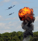 Het bombarderen van het doel Royalty-vrije Stock Afbeeldingen