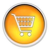 Het boodschappenwagentje, knoop, pictogram, Webpictogram, e-koopt, Webknoop Royalty-vrije Stock Foto