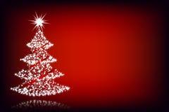 Het boom-rood van Kerstmis achtergrond Stock Foto's