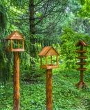 het boomhuis voor de vrolijke vogels, apartmen Stock Afbeeldingen