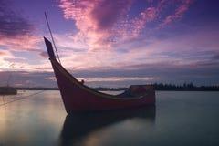 Het bootoverzees royalty-vrije stock foto
