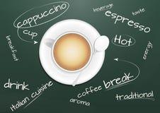 Het bord van cappuccino's vector illustratie