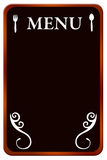 Het bord van het menu Royalty-vrije Stock Afbeeldingen