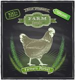 Het bordteken van de landbouwbedrijf verse markt Royalty-vrije Stock Afbeelding