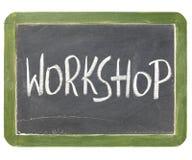 Het bordteken van de workshop Royalty-vrije Stock Foto's