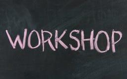 Het bordteken van de workshop stock afbeeldingen