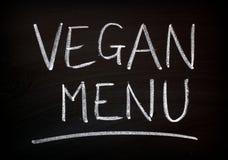 Het Bordteken van het veganistmenu stock fotografie