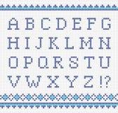 Het borduren alfabet Stock Afbeeldingen