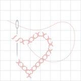 Het borduurwerk van de liefde Royalty-vrije Stock Afbeeldingen