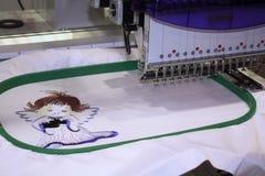 Het borduurwerk van de machine Stock Afbeelding