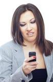 Het Boring SMS royalty-vrije stock fotografie