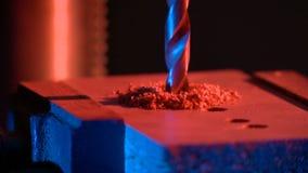 Het Boring van metaal op een gereedschapswerktuig Royalty-vrije Stock Foto's