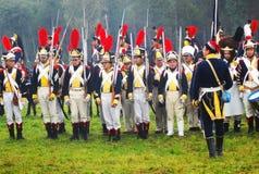 Het Borodino 2012 historische weer invoeren Stock Foto