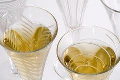 Het Borrelen van Champagne Stock Afbeeldingen