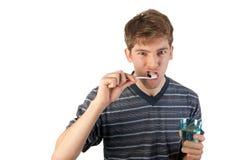 Het borstelen van tanden royalty-vrije stock foto