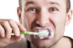 Het borstelen van tanden Royalty-vrije Stock Foto's