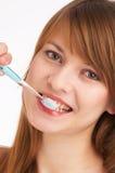 Het borstelen van tanden I Royalty-vrije Stock Foto