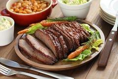 Het borststuk van het barbecuerundvlees stock foto's