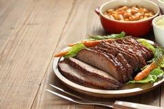 Het borststuk van het barbecuerundvlees stock fotografie
