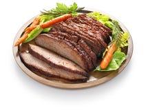 Het borststuk van het barbecuerundvlees stock foto