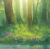 In het bos stock illustratie