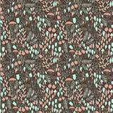 Het bos naadloze patroon van de krabbelherfst Vector Illustratie