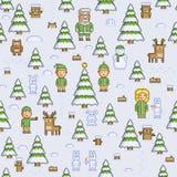 Het bos van de Kerstmiswinter stock illustratie