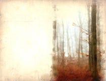 Het bos van de waterverf Royalty-vrije Stock Afbeelding