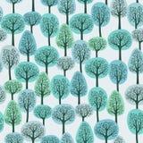 Het bos van de winter Stock Foto's