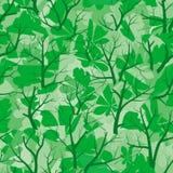 Het bos van de zomer (naadloos vectorbehang) Royalty-vrije Stock Afbeelding