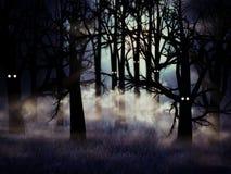 Het bos van Halloween Stock Foto