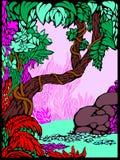 Het Bos van het sprookje stock illustratie
