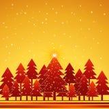 Het bos van Kerstmis, vector Royalty-vrije Stock Afbeelding