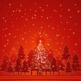 Het bos van Kerstmis, vector Stock Afbeelding