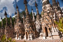 Het bos van Stupas van Paya, Kakku, Myanmar Royalty-vrije Stock Afbeelding