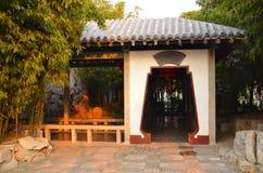 Het bosjebinnenplaats van het bamboe Royalty-vrije Stock Afbeelding